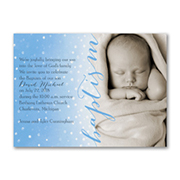 Precious Dots - Photo Baptism Invitation